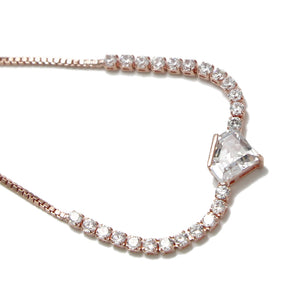 CHARMING DIAMOND GEM METAL STRING BRACELET