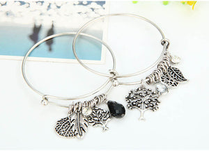 2 PIECES PER SET ELEGANT STAINLESS STEEL BANGLE BRACELET [2 VARIANTS]