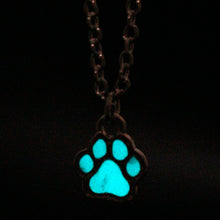 DOG LOVER'S GLOWING PAW PRINT PENDANT NECKLACE