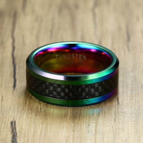 RAINBOW METAL CARBON FIBER RING