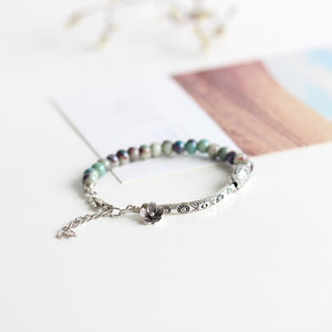 WOMEN'S WEE AMAZONITE BEADS NATURE-INSPIRED TRINKET BRACELET
