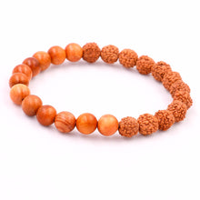UNISEX RUDRAKSHA SEEDS & WOODEN BEADS COMBINATION BRACELET