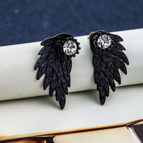 PUNK FASHION ANGEL'S WINGS STUD EARRINGS [4 COLORS]