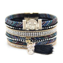 CHARMING MULTI-LAYER CLOVER AND OWL CHARMS LEATHER BRACELET [4 VARIATIONS]