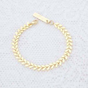 ELEGANT FISH BONE PATTERN GOLDEN BRACELET