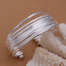 ELEGANT 925 STERLING SILVER MULTI-BANGLE BRACELET
