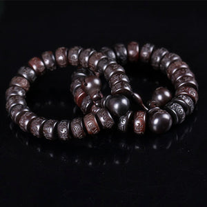 HAND-CARVED WOODEN BUDDHIST MEDITATION MALA