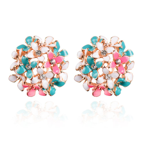 CHARMING SPRING BLOSSOMS STUD EARRINGS [4 COLORS]