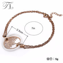 LINKED CHAIN TREE OF LIFE PENDANT BRACELET [3 COLORS]