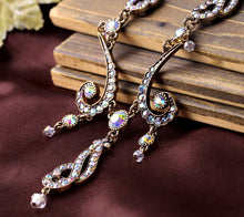 ELEGANT CURLY FERNS CRYSTAL STUDDED NECKLACE [2 VARIATIONS]
