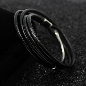 MEN'S MULTI-LAYER 316L STAINLESS STEEL CLASP BRACELET