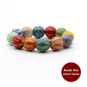CUTE COLORFUL NATURAL CERAMIC STONES BOHO BRACELETS [11 VARIATIONS]