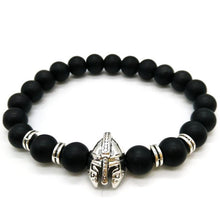 COMBINATION BLACK & BLOOD STONES SPARTAN WARRIOR BRACELET