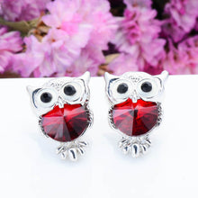STYLISH WISDOM OWL GEM GOLD AND SILVER STUD EARRINGS