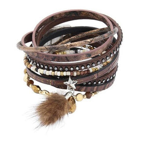 WOMEN'S BOHEMIAN FASHION LEATHER BRACELET [2 COLORS]
