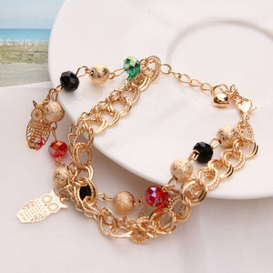 CHARMING MULTI-LAYER PENDANT AND BEADS GOLD BRACELET [14 VARIATIONS]