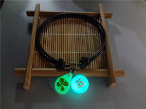 LUCKY CHARM KNOTTED STRING GLOWING BALL PENDANT BRACELET [10 VARIATIONS]