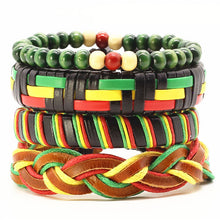 VINTAGE PUNK FASHION STACK LEATHER & BEADS BRACELET [8 VARIATIONS]