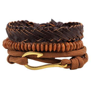 VINTAGE PUNK MULTI-STACK LEATHER AND BEADS BRACELET [13 VARIATIONS]