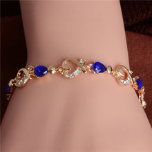 LINKED HEARTS GEM STUDDED FRIENDSHIP BRACELET [5 COLORS]