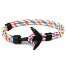 TRENDY PARACORD STRING ANCHOR LOCK BRACELET [10 COLORS]