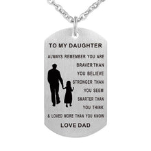 DAD TO DAUGHTER EXPRESSION DOG TAG NECKLACE