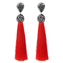 CHARMING MULTI COLOR TASSEL DANGLE EARRINGS [12 COLORS]