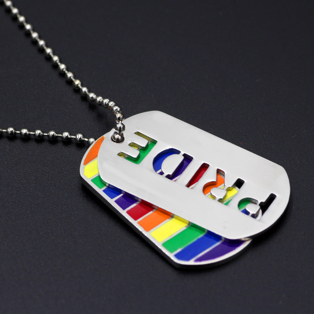 LGBT PRIDE EXPRESSION DOG TAG NECKLACE