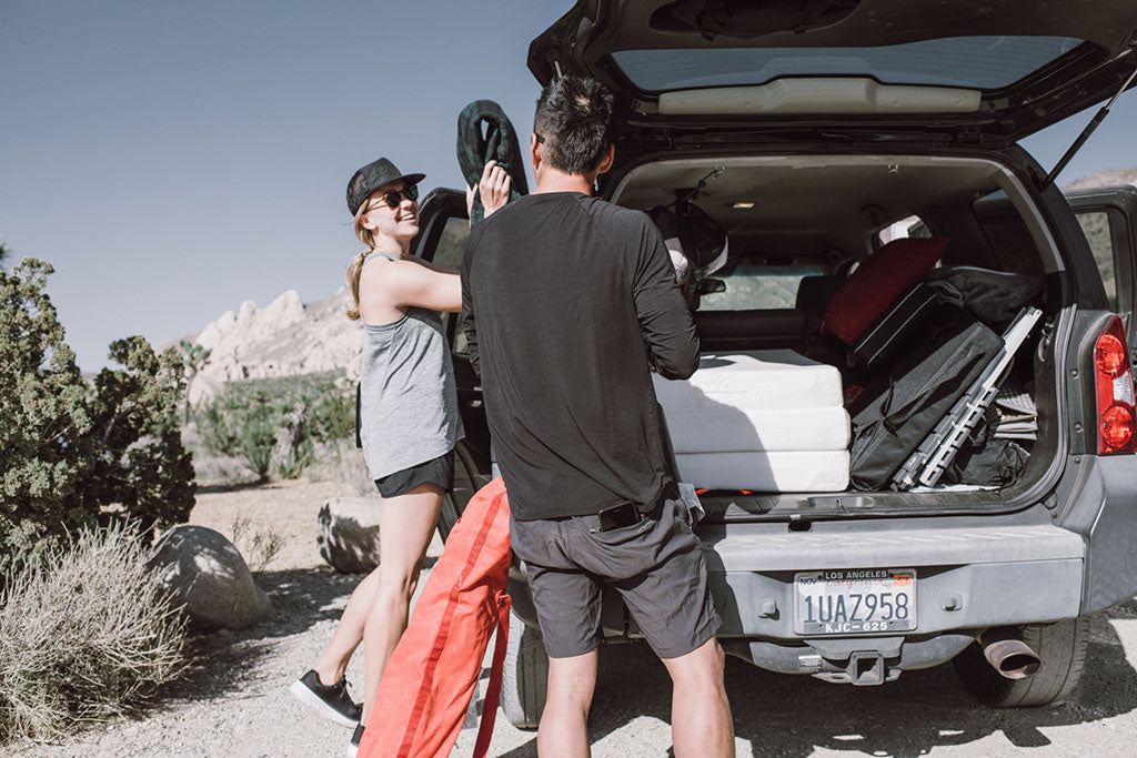 camping trip in Joshua Tree