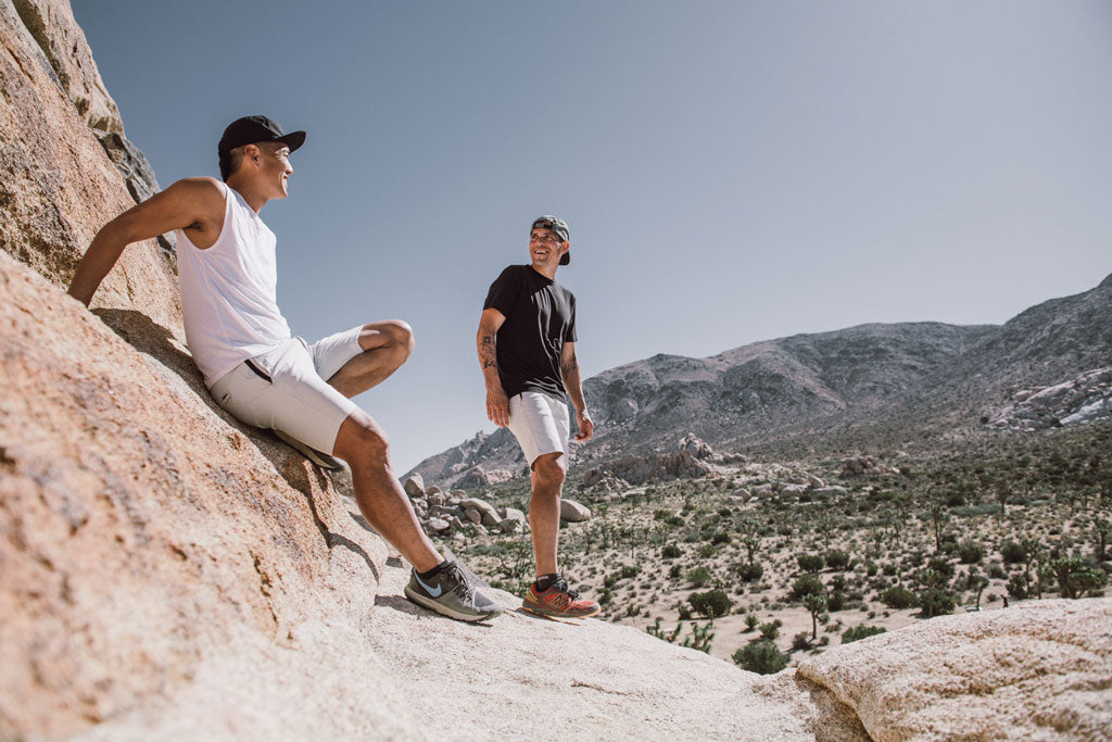 Billy Yang and David Villalobos chilling Joshua Tree