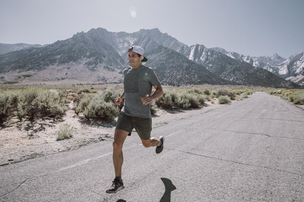 running on the road by mt whitney