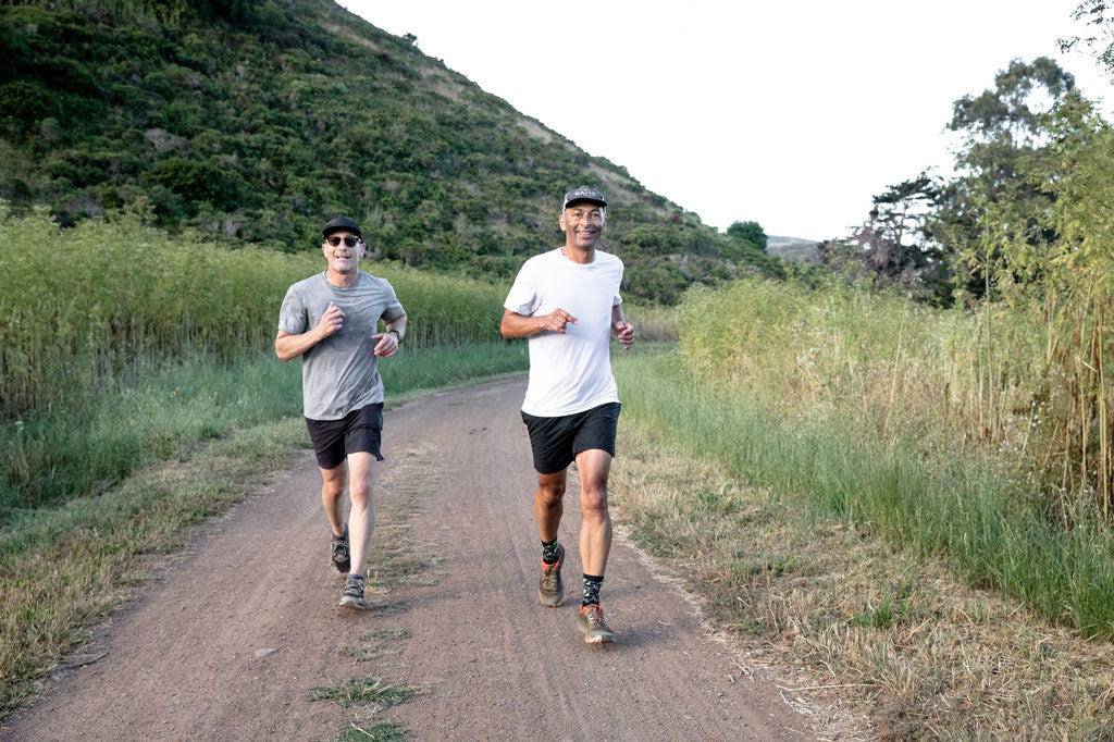 Scott Bailey and Toby Silver trail running San Francisco
