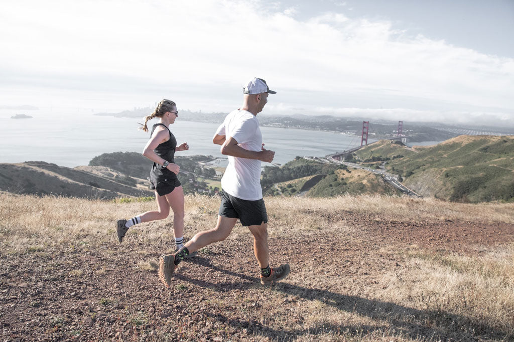 Jennifer and Toby running San Francisco