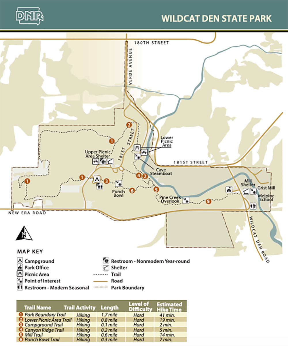 Wildcat Den Trail Map