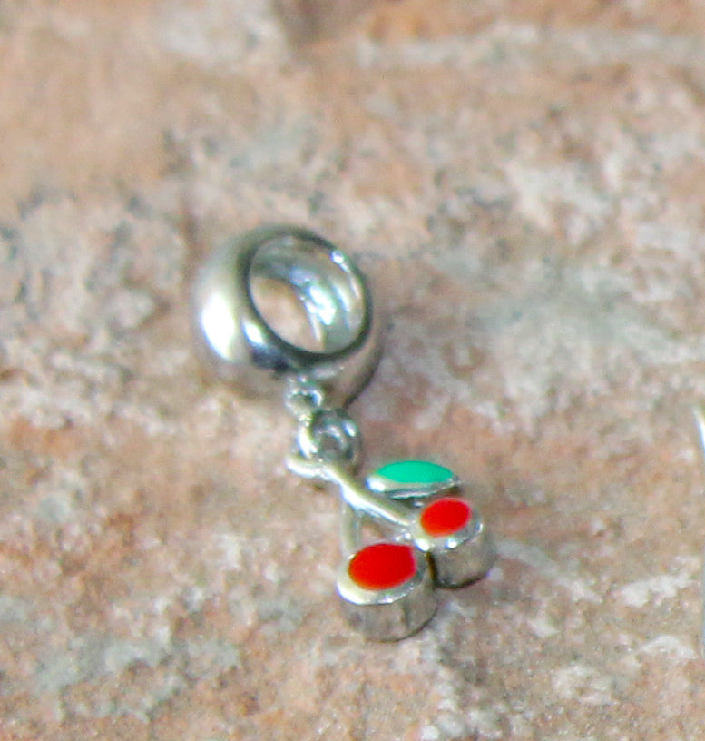 Story Bead with Cherries Charm