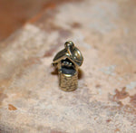 Oxidized Wishing Well Charm