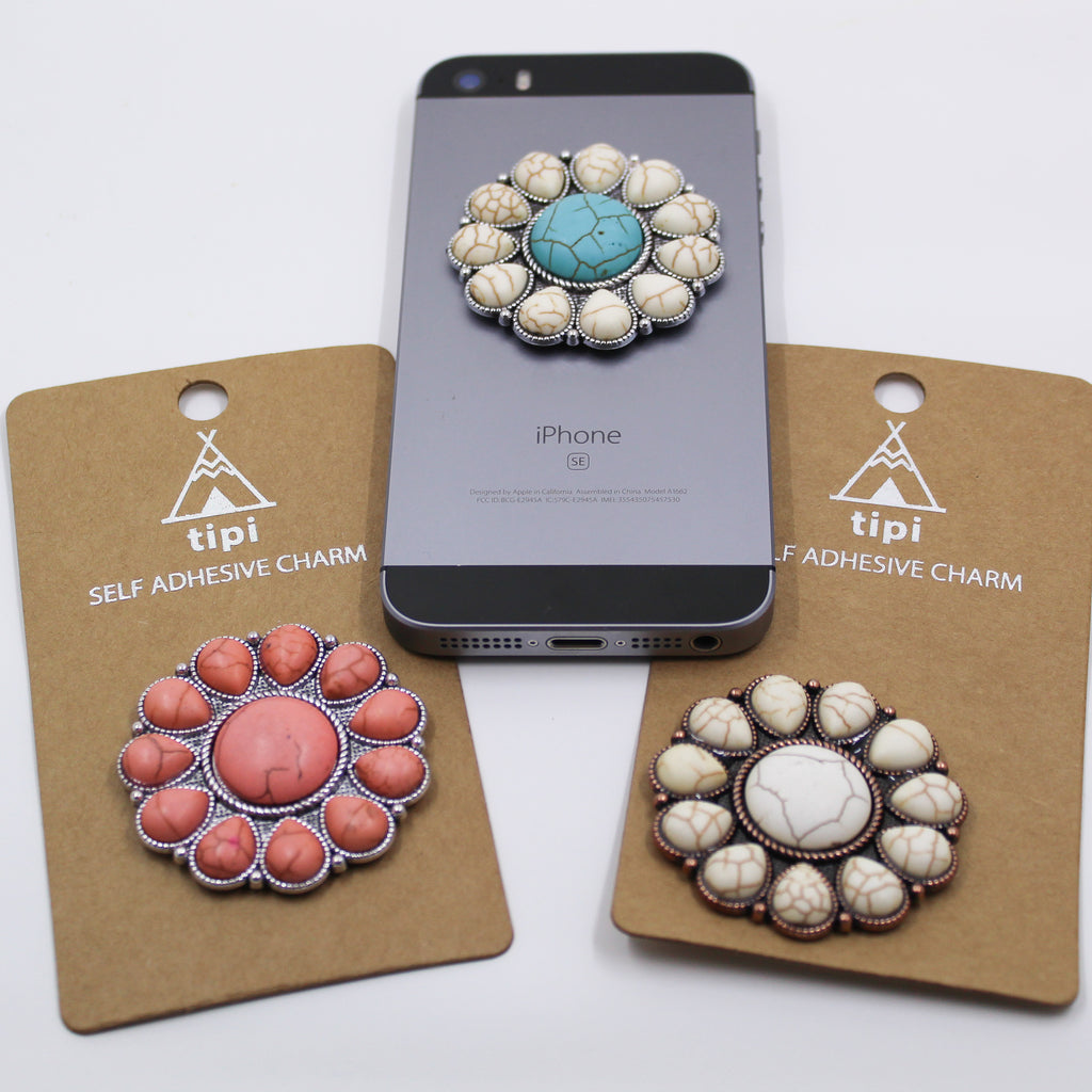 Round Stone Phone Grip Cover