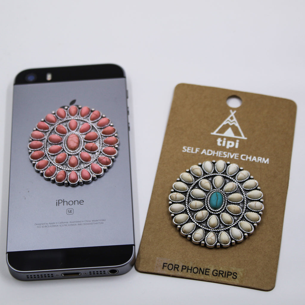 Oval Stone Phone Grip Cover