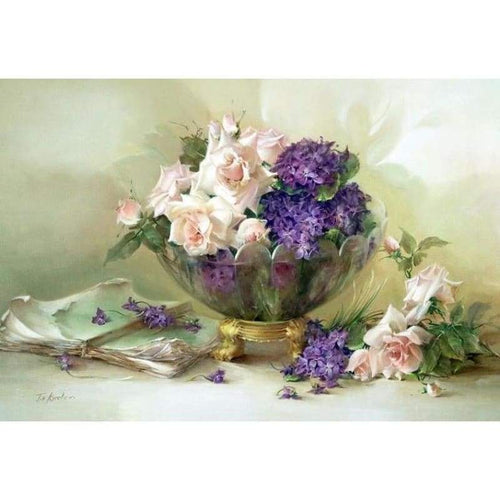 Bowl of Roses and Violets - NEEDLEWORK KITS