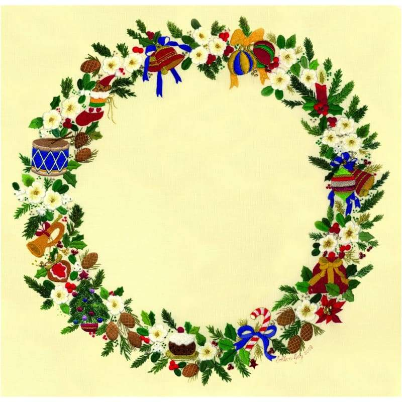Christmas Wreath - Embroidery Patterns