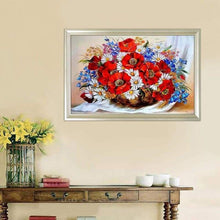 Load image into Gallery viewer, Full Drill - 5D DIY Diamond Painting Kits Dream Colorful Basket of Flowers - NEEDLEWORK KITS