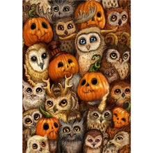Load image into Gallery viewer, 5D DIY Diamond Painting Kits Cartoon Halloween Pumpkin Owl - 5