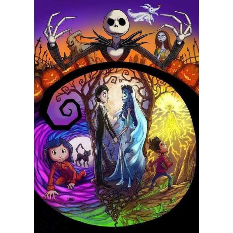 5D DIY Diamond Painting Kits Cartoon Halloween Skeleton - 3
