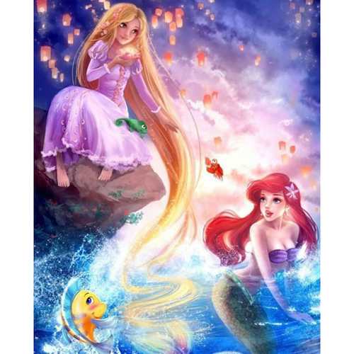 5D DIY Diamond Painting Kits Cartoon Little Mermaid - 3