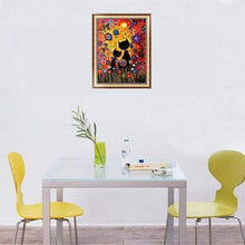Load image into Gallery viewer, 5D DIY Diamond Painting Kits Cartoon Two Cats In Nature - 3