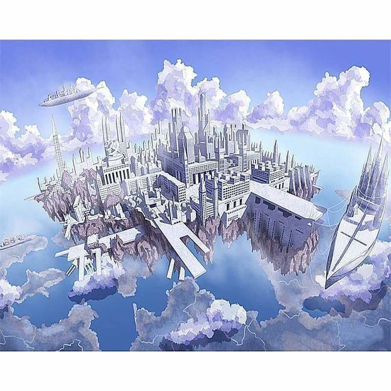 Full Drill - 5D DIY Diamond Painting Kits Dream Castle in The Sky