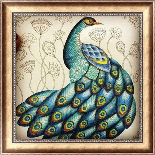 Full Drill - 5D DIY Diamond Painting Kits Cartoon Colorful Peacock - NEEDLEWORK KITS