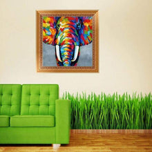 Load image into Gallery viewer, Full Drill - 5D DIY Diamond Painting Kits Dream Colorful Elephant - NEEDLEWORK KITS
