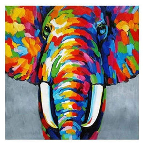 Full Drill - 5D DIY Diamond Painting Kits Dream Colorful Elephant - NEEDLEWORK KITS
