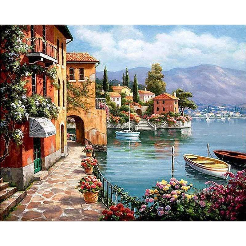 Full Drill - 5D DIY Diamond Painting Kits Dream Coastal City Landscape - NEEDLEWORK KITS